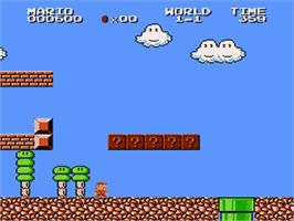 In game image of Super Mario Brothers 2 on the Nintendo Famicom Disk System.