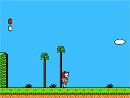 In game image of Yume Koujou Doki Doki Panic on the Nintendo Famicom Disk System.