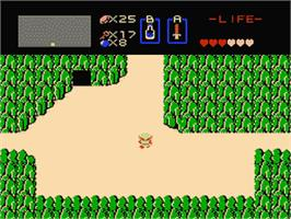 In game image of Zelda no Densetsu - The Hyrule Fantasy on the Nintendo Famicom Disk System.