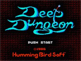 Title screen of Deep Dungeon - Madou Senki on the Nintendo Famicom Disk System.
