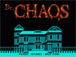 Title screen of Dr. Chaos - Jigoku no Tobira on the Nintendo Famicom Disk System.