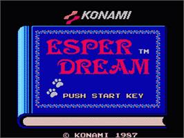 Title screen of Esper Dream on the Nintendo Famicom Disk System.