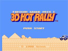 Title screen of Famicom Grand Prix II - 3D Hot Rally on the Nintendo Famicom Disk System.