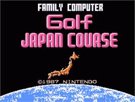 Title screen of Family Computer Golf Japan Course on the Nintendo Famicom Disk System.
