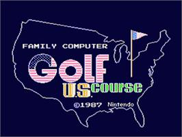 Title screen of Family Computer Golf U.S. Course on the Nintendo Famicom Disk System.