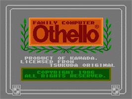 Title screen of Family Computer Othello on the Nintendo Famicom Disk System.