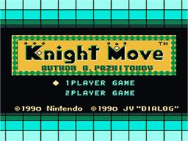 Title screen of Knight Move on the Nintendo Famicom Disk System.