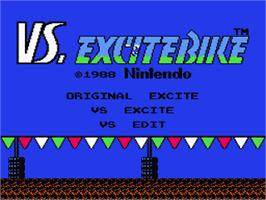 Title screen of Vs. Excitebike on the Nintendo Famicom Disk System.