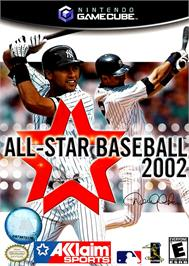 Box cover for All-Star Baseball 2002 on the Nintendo GameCube.