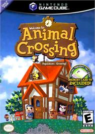 Box cover for Animal Crossing on the Nintendo GameCube.