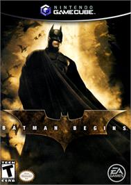 Box cover for Batman Begins on the Nintendo GameCube.