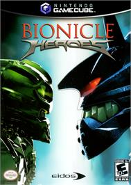 Box cover for Bionicle Heroes on the Nintendo GameCube.