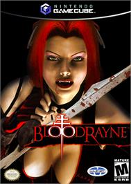 Box cover for BloodRayne on the Nintendo GameCube.
