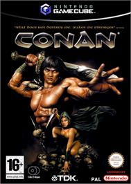 Box cover for Conan on the Nintendo GameCube.