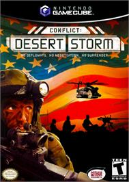 Box cover for Conflict: Desert Storm on the Nintendo GameCube.