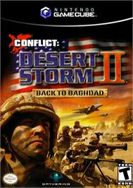 Box cover for Conflict: Desert Storm II: Back to Baghdad on the Nintendo GameCube.