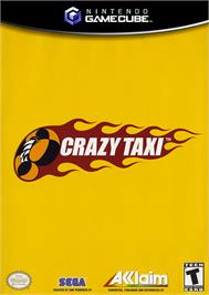 Box cover for Crazy Taxi on the Nintendo GameCube.