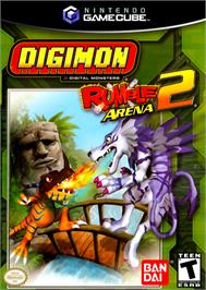 Box cover for Digimon Rumble Arena 2 on the Nintendo GameCube.