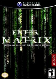 Box cover for Enter the Matrix on the Nintendo GameCube.