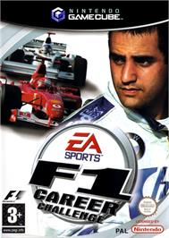Box cover for F1 Career Challenge on the Nintendo GameCube.