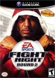 Box cover for Fight Night Round 2 on the Nintendo GameCube.