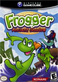 Box cover for Frogger: Ancient Shadow on the Nintendo GameCube.