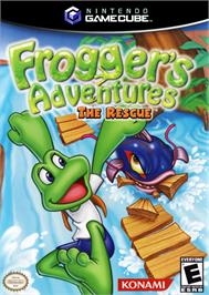 Box cover for Frogger's Adventures: The Rescue on the Nintendo GameCube.