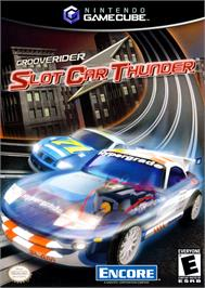 Box cover for GrooveRider:  Slot Car Thunder on the Nintendo GameCube.