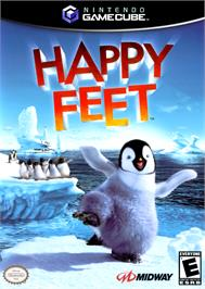 Box cover for Happy Feet on the Nintendo GameCube.