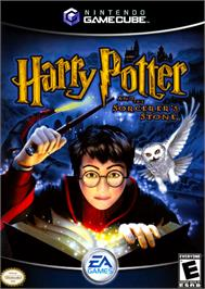 Box cover for Harry Potter and the Sorcerer's Stone on the Nintendo GameCube.