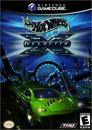 Box cover for Hot Wheels: Velocity X on the Nintendo GameCube.