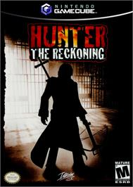 Box cover for Hunter: The Reckoning on the Nintendo GameCube.