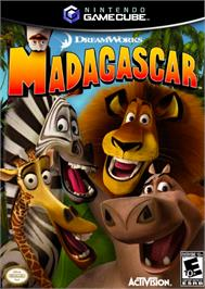 Box cover for Madagascar on the Nintendo GameCube.