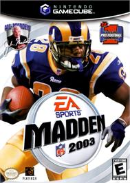 Box cover for Madden NFL 2003 on the Nintendo GameCube.