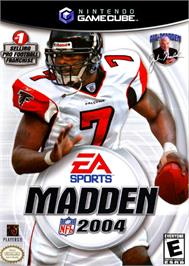 Box cover for Madden NFL 2004 on the Nintendo GameCube.
