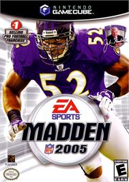 Box cover for Madden NFL 2005 on the Nintendo GameCube.