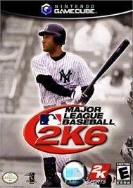 Box cover for Major League Baseball 2K6 on the Nintendo GameCube.