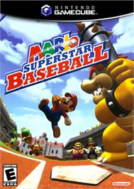 Box cover for Mario Superstar Baseball on the Nintendo GameCube.