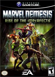 Box cover for Marvel Nemesis: Rise of the Imperfects on the Nintendo GameCube.