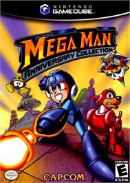 Box cover for Mega Man Anniversary Collection on the Nintendo GameCube.