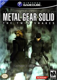 Box cover for Metal Gear Solid: The Twin Snakes on the Nintendo GameCube.