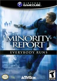 Box cover for Minority Report: Everybody Runs on the Nintendo GameCube.