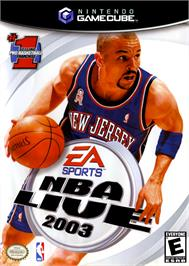 Box cover for NBA Live 2003 on the Nintendo GameCube.