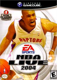 Box cover for NBA Live 2004 on the Nintendo GameCube.