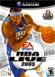 Box cover for NBA Live 2005 on the Nintendo GameCube.