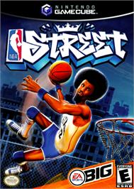 Box cover for NBA Street on the Nintendo GameCube.