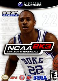 Box cover for NCAA College Basketball 2K3 on the Nintendo GameCube.