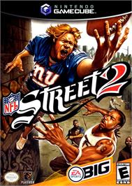 Box cover for NFL Street 2 on the Nintendo GameCube.