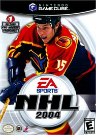 Box cover for NHL 2004 on the Nintendo GameCube.
