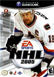 Box cover for NHL 2005 on the Nintendo GameCube.